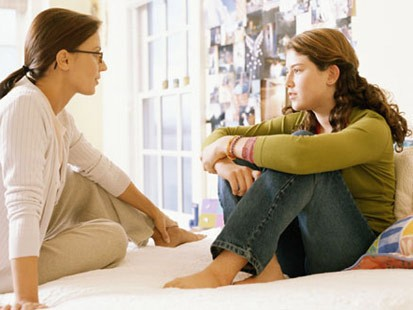 Girls parents Teen talk to